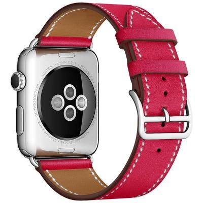 Ремешок для apple watch 38мм красное вино из кожи AW55-07