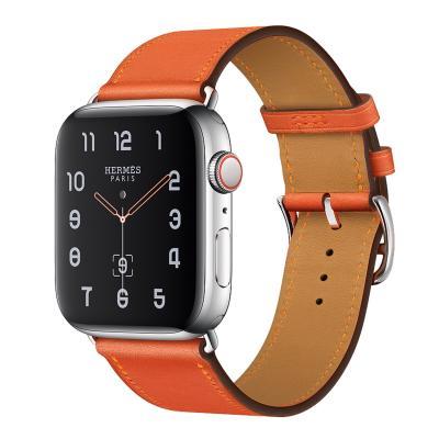 Ремешок для apple watch 38-40мм кожаный оранжевый AW58-01