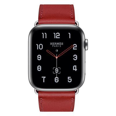 Ремешок для apple watch 38-40мм кожаный красный AW58-02