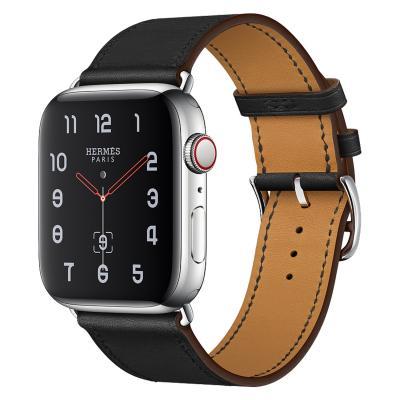 Ремешок для apple watch 38-40мм кожаный черный AW58-06