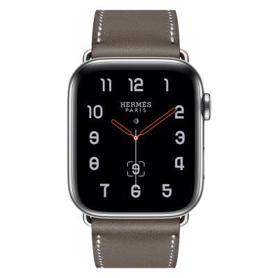 Ремешок для apple watch 38-40мм кожаный серый AW58-07