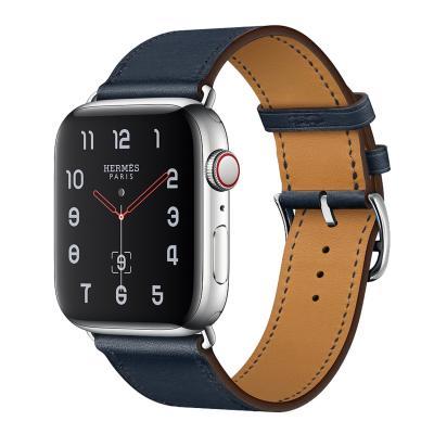 Ремешок для apple watch 38-40мм кожаный синий AW58-08
