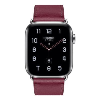 Ремешок для apple watch 38-40мм кожаный бордовый AW58-09