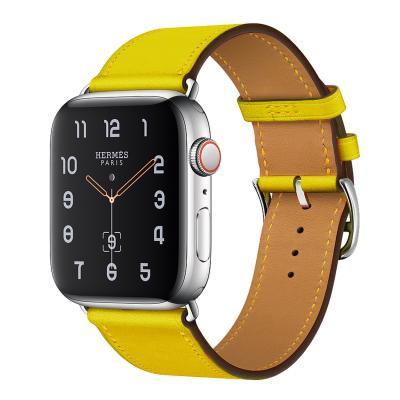 Ремешок для apple watch 38-40мм кожаный желтый AW58-10