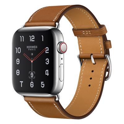 Ремешок для apple watch 38-40мм кожаный коричневый AW58-11