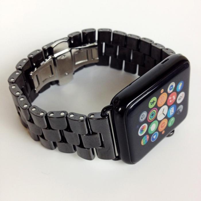 Ремешок керамический для apple watch 42мм черный AW6-101