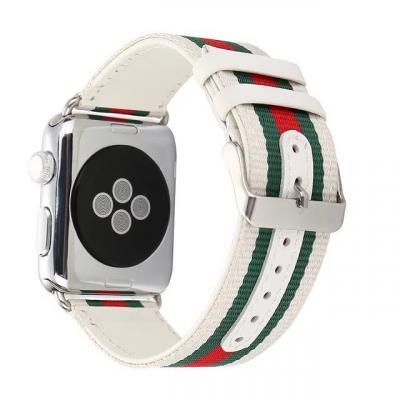 Ремешок кожаный для apple watch 38мм белый AW7-01