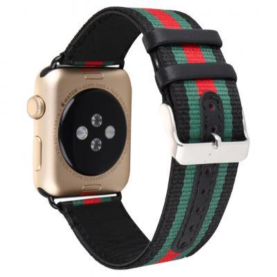 Черный кожаный ремешок для apple watch 38мм AW7-02
