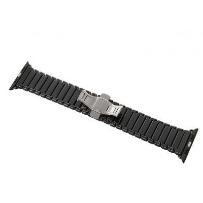 Черный керамический ремешок для apple watch 42мм AW8-102